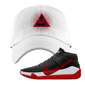 KD 13 Bred Dad Hat | All Seeing Eye, White