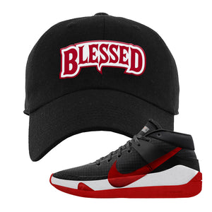 KD 13 Bred Dad Hat | Blessed Arch, Black