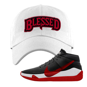 KD 13 Bred Dad Hat | Blessed Arch, White