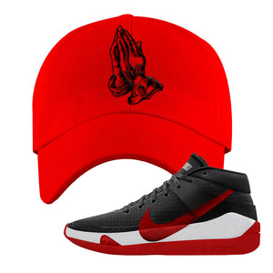 KD 13 Bred Dad Hat | Praying Hands, Red