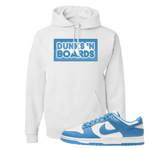 SB Dunk Low University Blue Hoodie | Dunks N Boards, White
