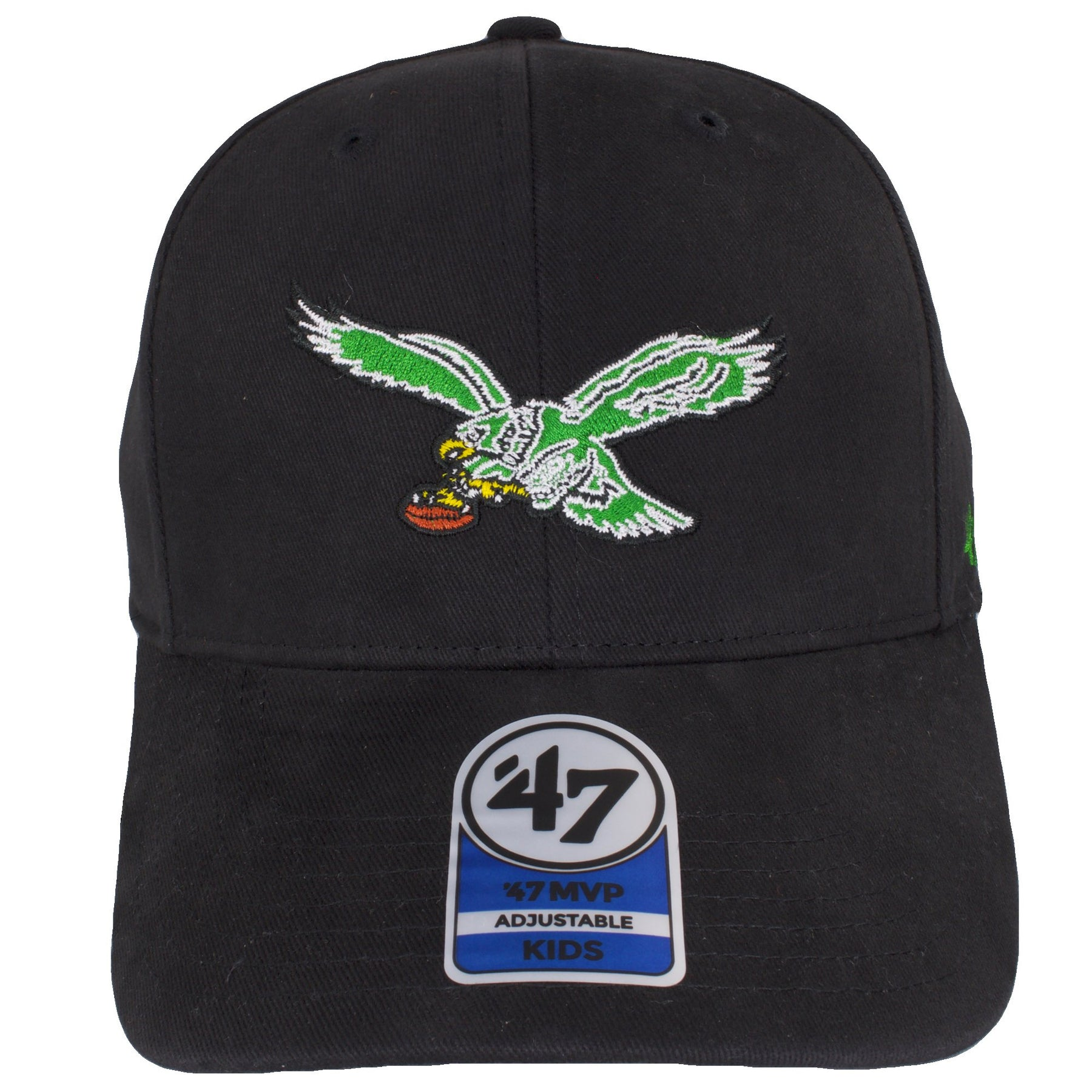 ... on the front of the kids sized philadelphia eagles throwback logo dad  hat is the retro ... aa7154210509