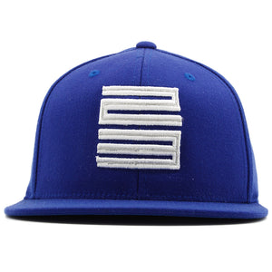 THE french blue jordan 12 matching jordan 23 snapback hat has the jordan 23 logo embroidered on the front in silver and white