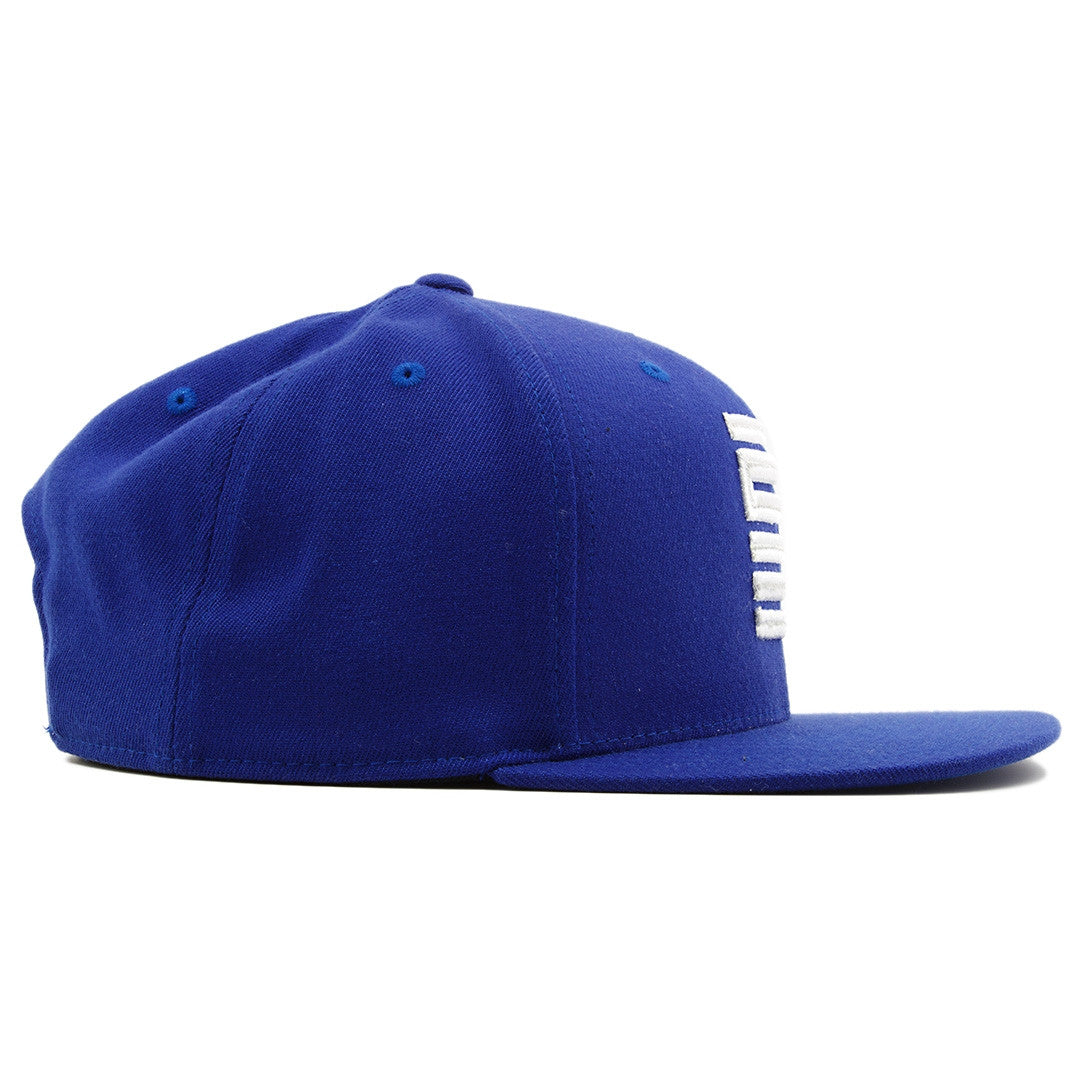 4ec39706d34 ... the french blue jordan 12 matching 23 snapback hat has a blue crown and  a blue ...