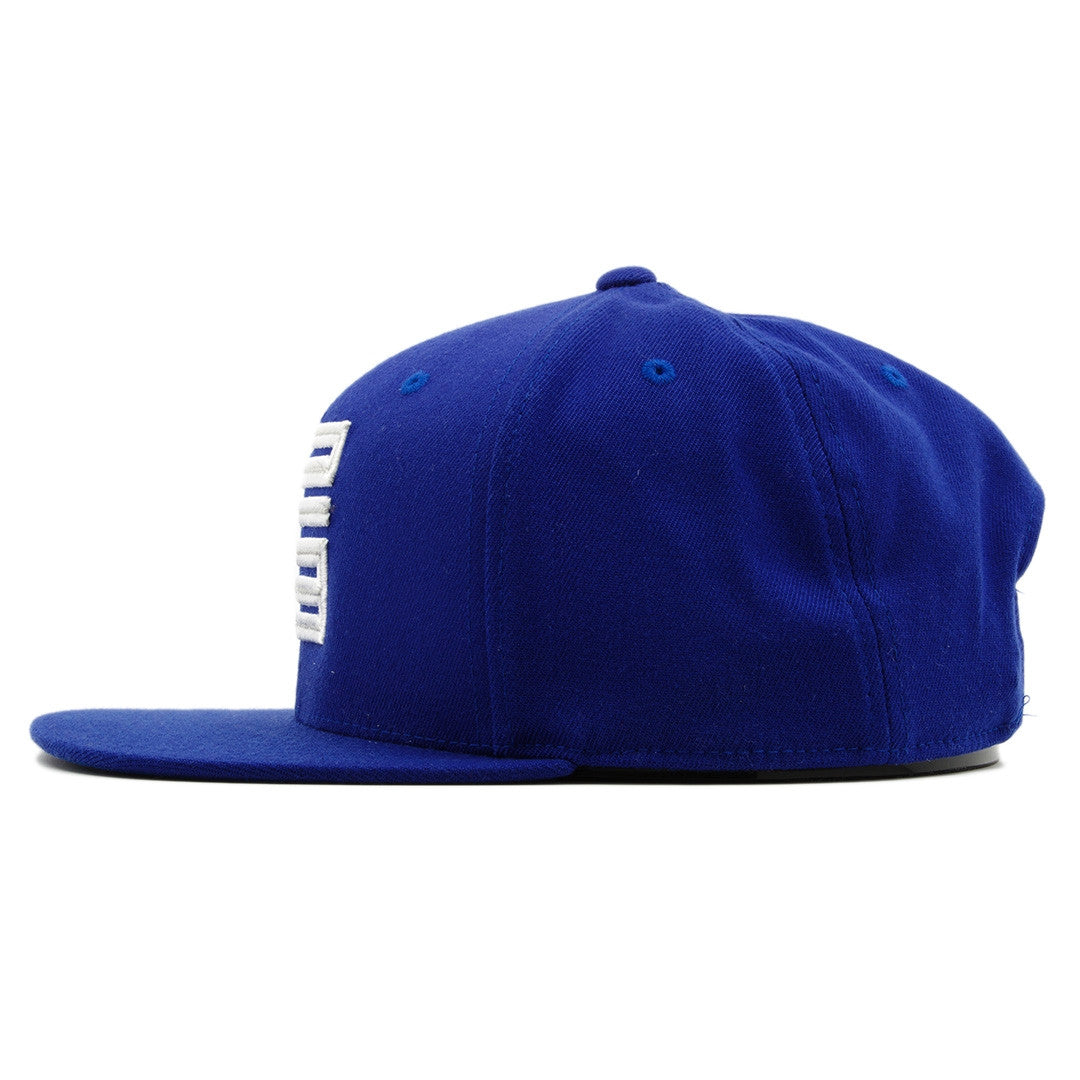 cc6788627849ae ... the french blue jordan 12 matching 23 snapback hat has a high crown and  a flat ...