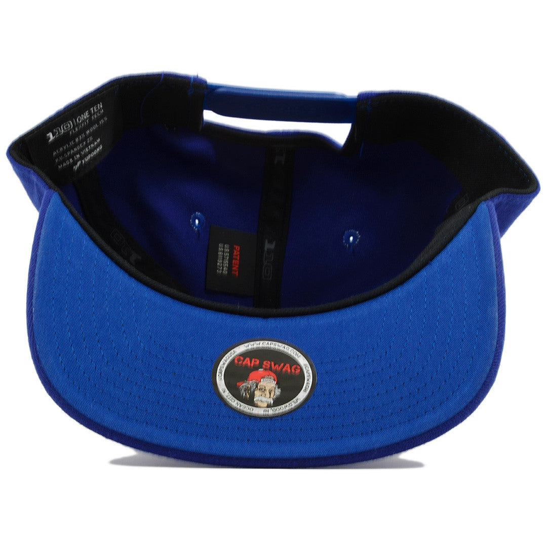 56e564c7075 ... the french blue jordan 12 matching 23 snapback hat has a blue underbrim  and a blue