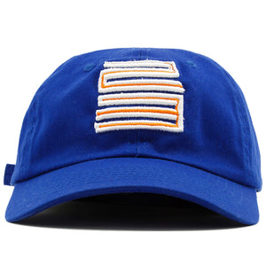 The New York Knicks Jordan 5 Matching 23 Dad Hat has a Jordan 23 logo on the front embroidered in orange and white