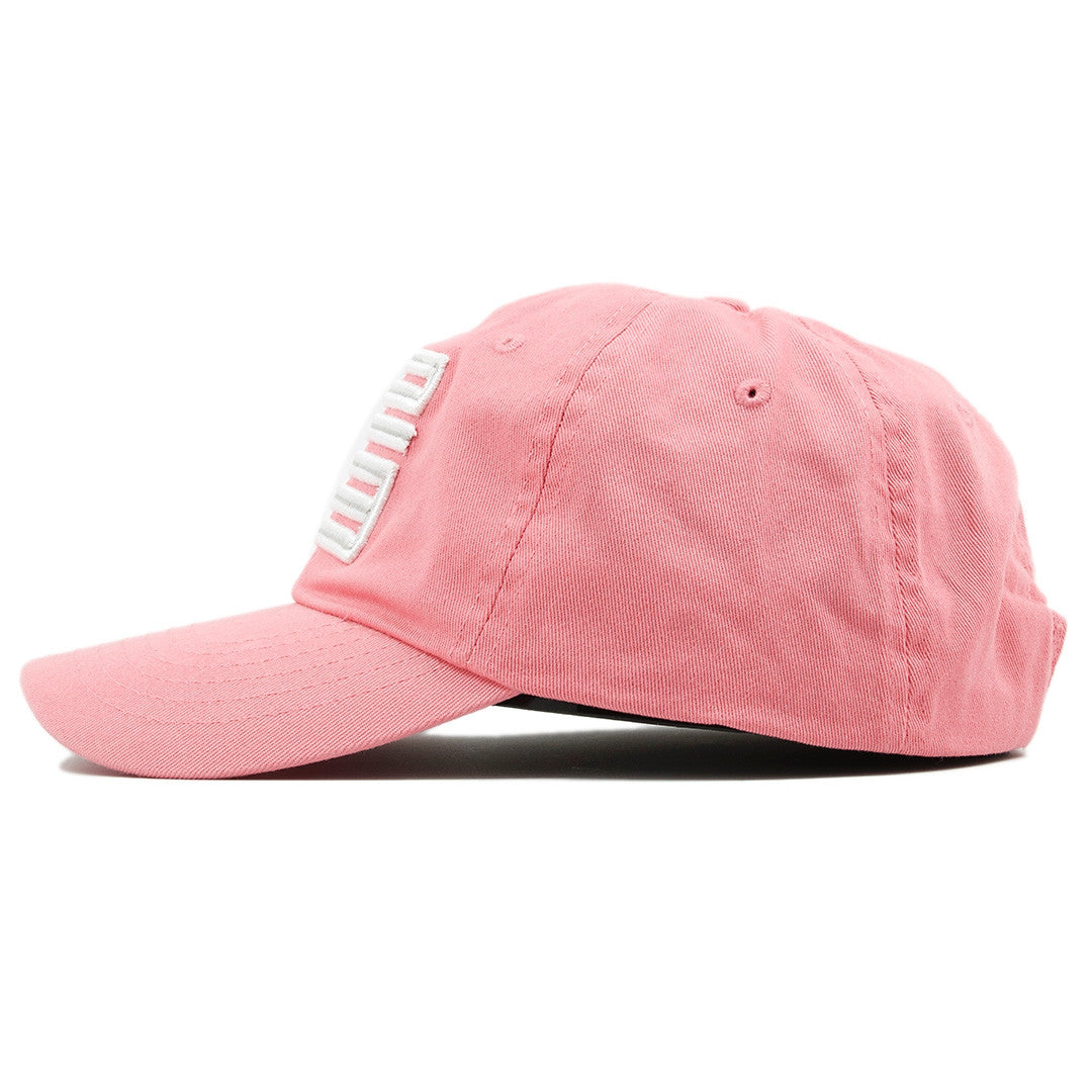 15d8cd1413bc7c ... white jordan 23 logo  the air jordan 23 pink adjustable ball cap dad  hat has a soft crown and a ...