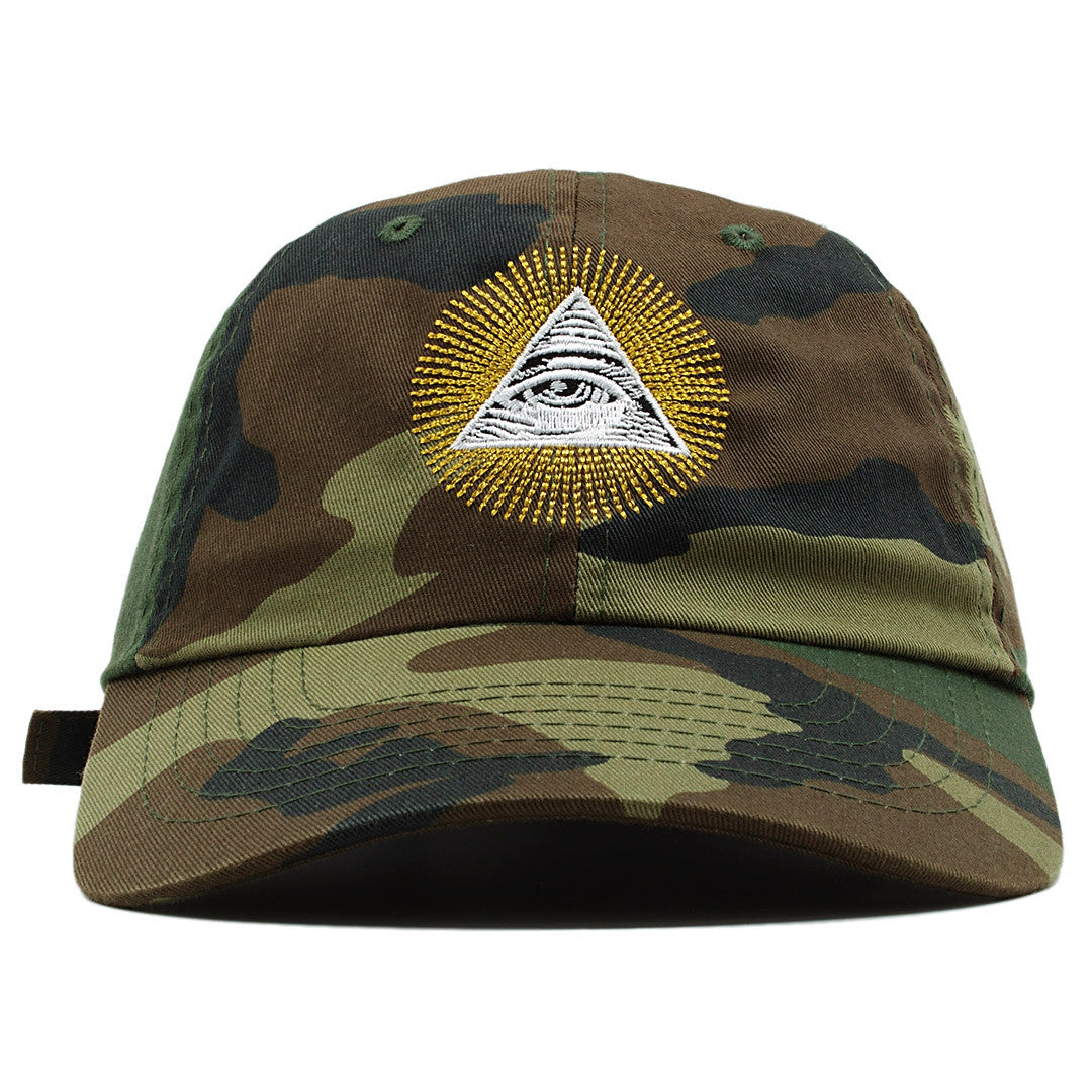 The All Seeing Eye Illuminati dad hat features the Illuminati pyramid  embroidered on the front in ade9f1cc335