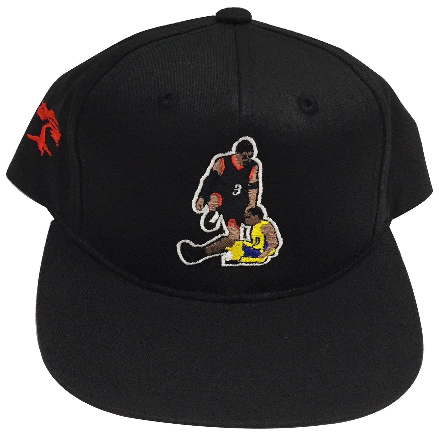 999317dd613 on the front of the allen iverson step over kids black snapback hat is an  embroidered