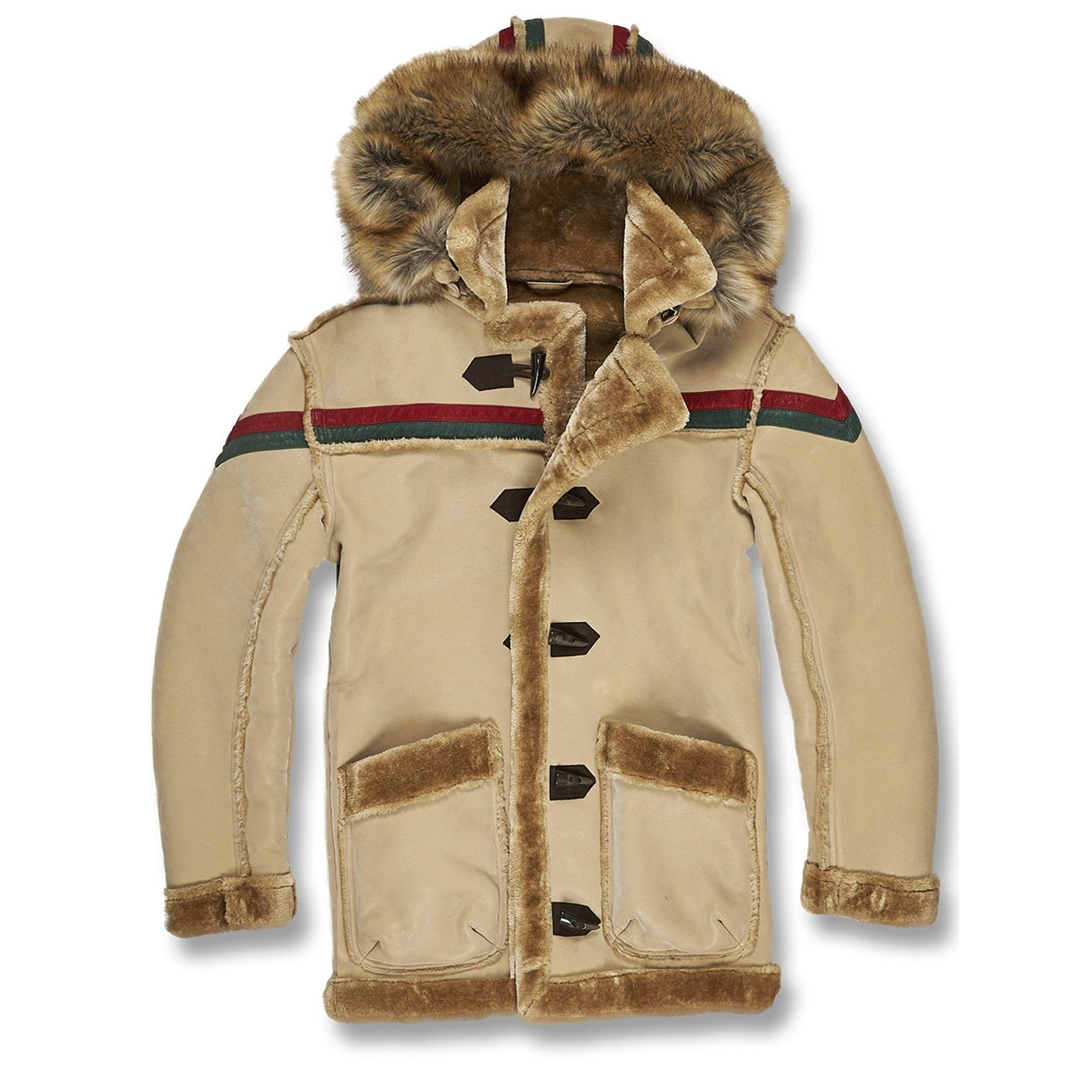 The mocha gucci colorway inspired faux fur shearling jacket has vegan fur  lined pockets wrist with 31c844f4b4f7