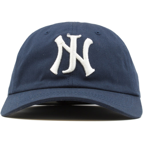 The NJ New Jersey dad hat features the NJ logo embroidered on the front of the hat in white.