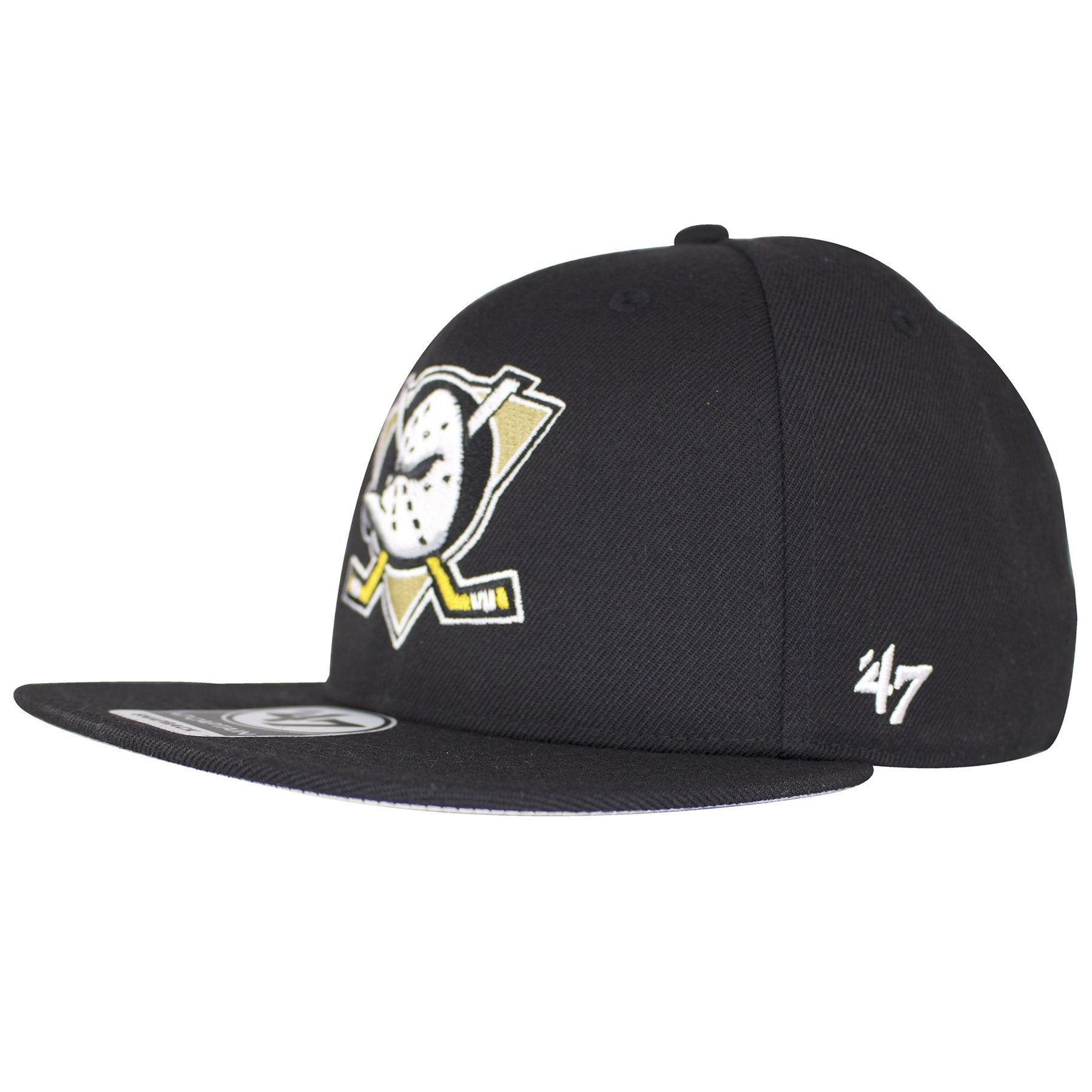 624a71469 Anaheim Mighty Ducks Retro Vintage Black Snapback