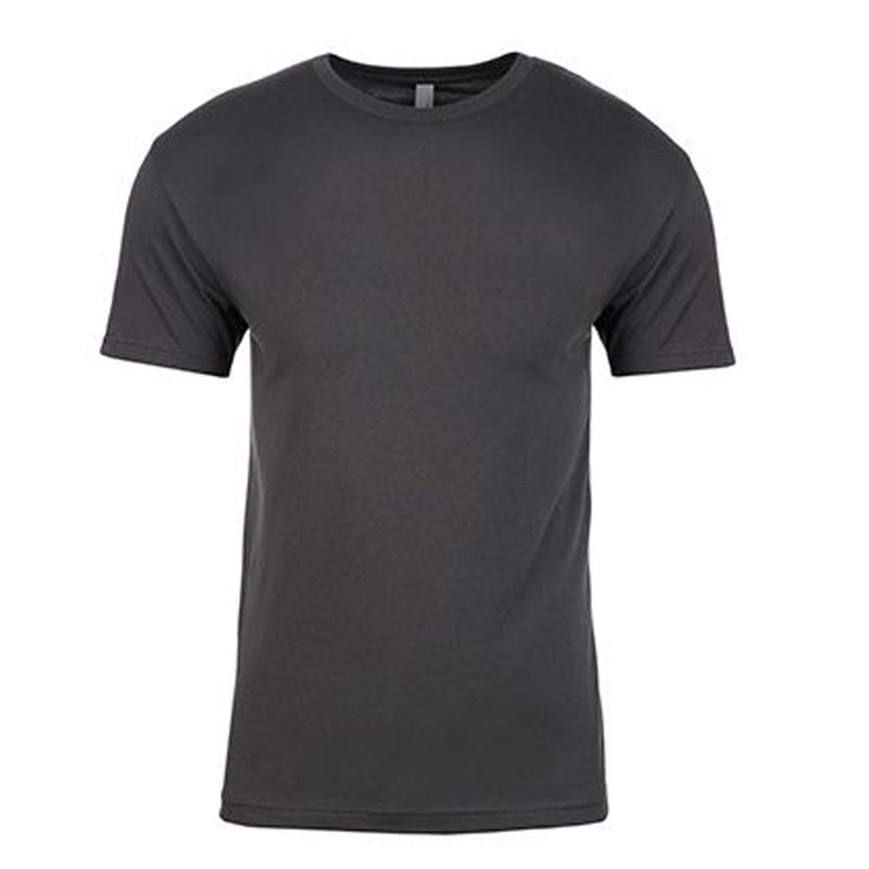 the gray heavy metal t-shirt is made of 100% ring spun cotton and is solid gray