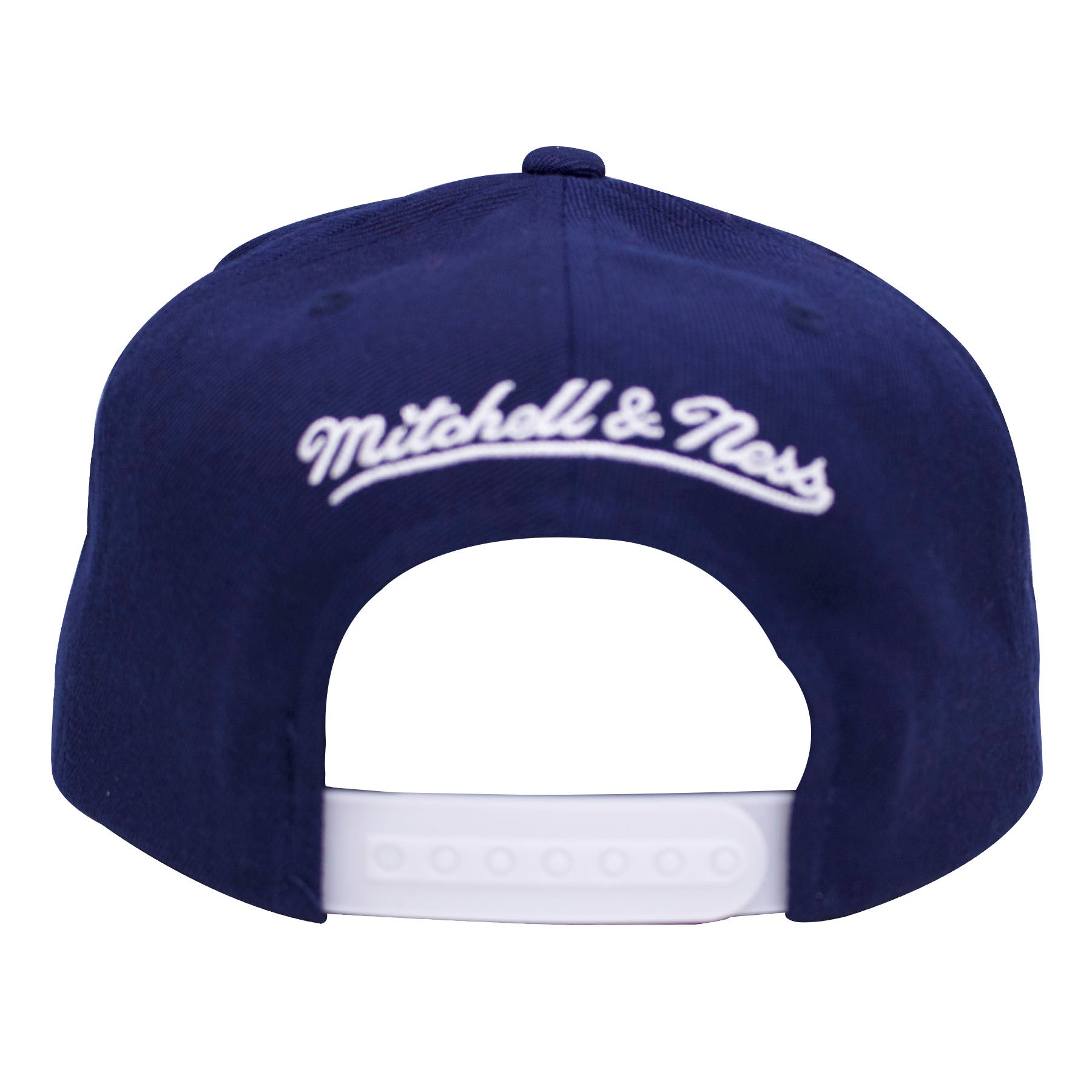 16d3ae59c52 ... The back of the Air Jordan Flint 13s snapback hat has a white mitchell  and ness ...