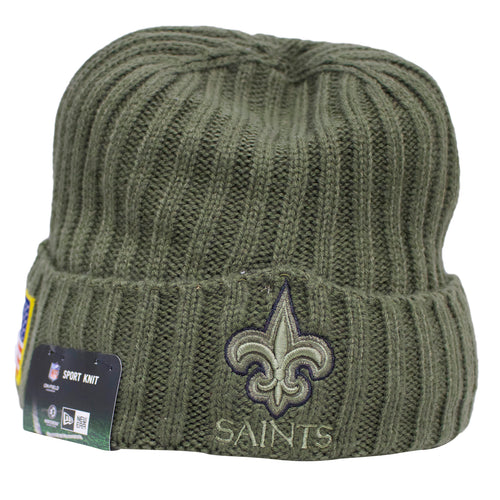 shop the new orleans saints salute to service winter beanie to show love for the new orleans saints and the troops