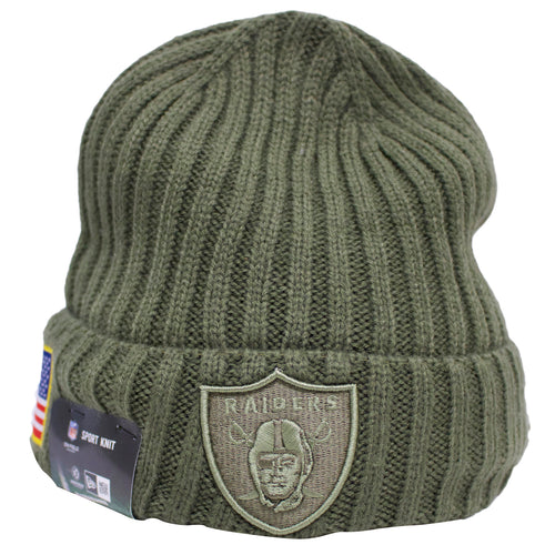 the salute to service oakland raiders winter beanie is perfect for any raiders fans that want to also support the troops