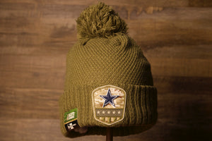 Cowboy Women's 2019 Salute To Service Beanie | Dallas Cowboys Knit Beanie this beanie is to raise awareness for troops