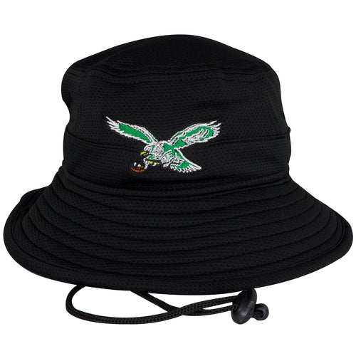 This Philadelphia Eagles hat shows a vintage Philadelphia Eagles bird logo embroidered on the front.