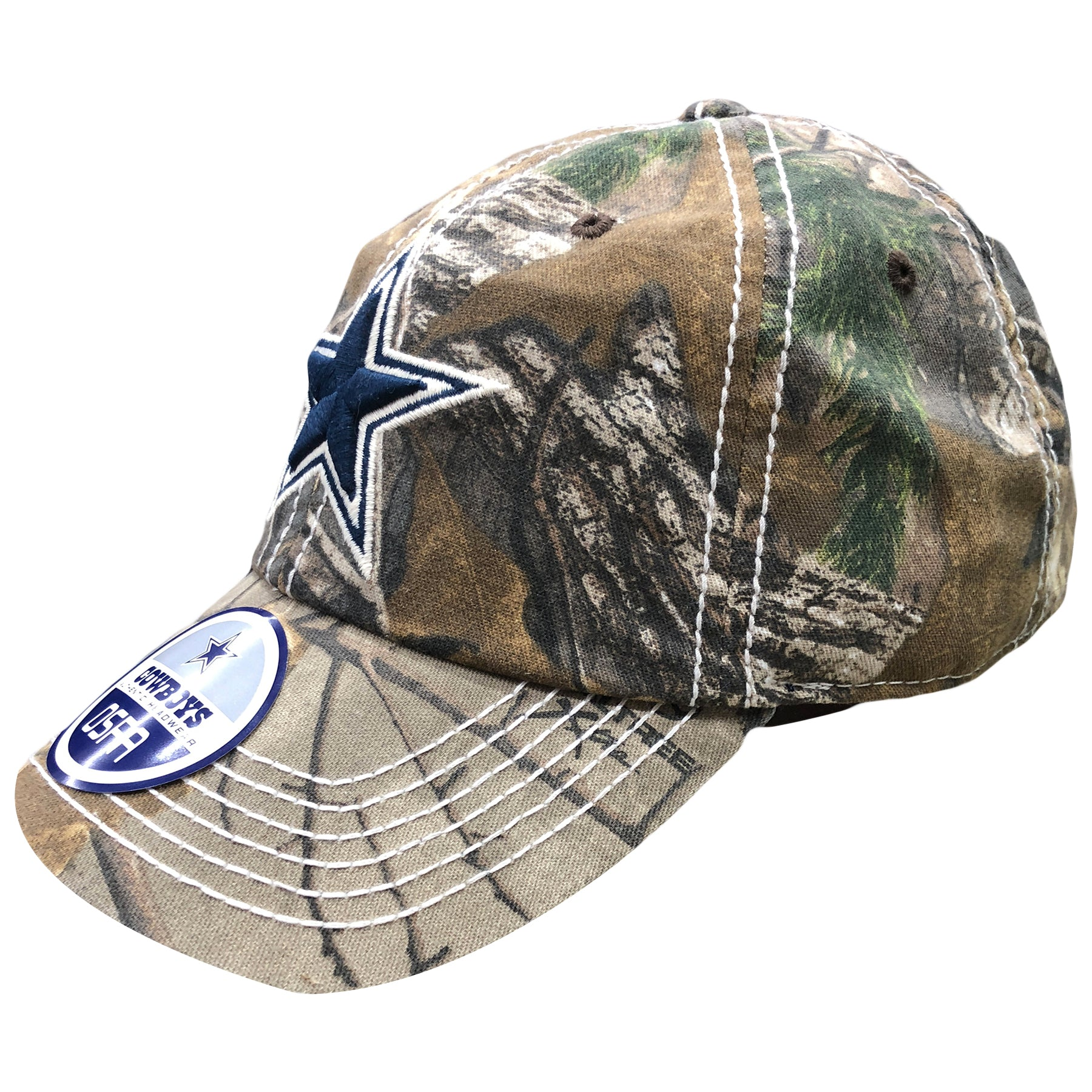 517d32534 ... logo embroidered  The Dallas Cowboys realtree adjustable baseball cap  has a soft crown and a bent brim ...
