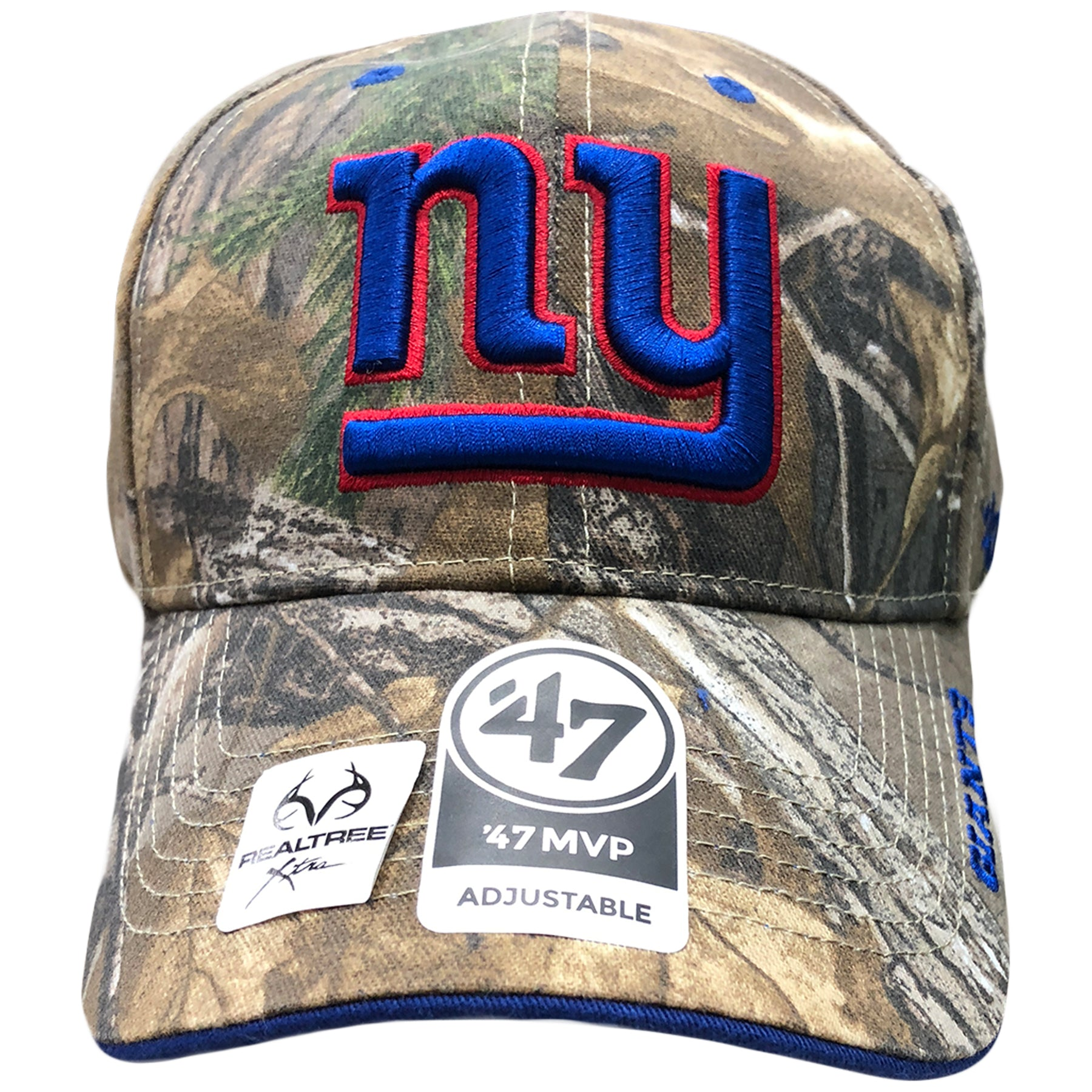 New York Giants Realtree Hunter Camouflage Dad Hat Cap Swag