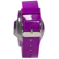 the purple flud watch has an adjustable strap