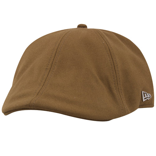 the philadelphia eagles duck bill irish cap is solid khaki with a metallic new era logo pinned to the left side