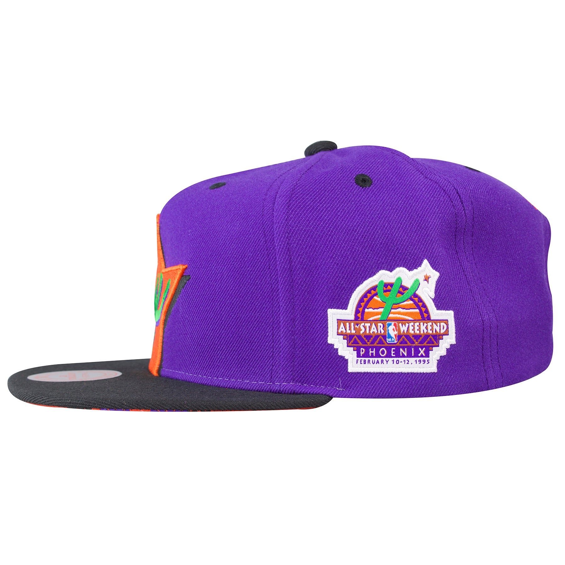 best sneakers 60d64 20a51 ... the left side of the 1995 nba all star weekend snapback hat features  the  95 ...