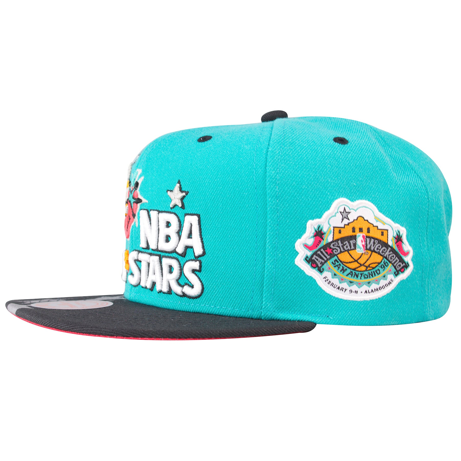 sale retailer 7878c 49811 ... on the left side of the 1996 nba all star game snapback hat is the 1996  ...