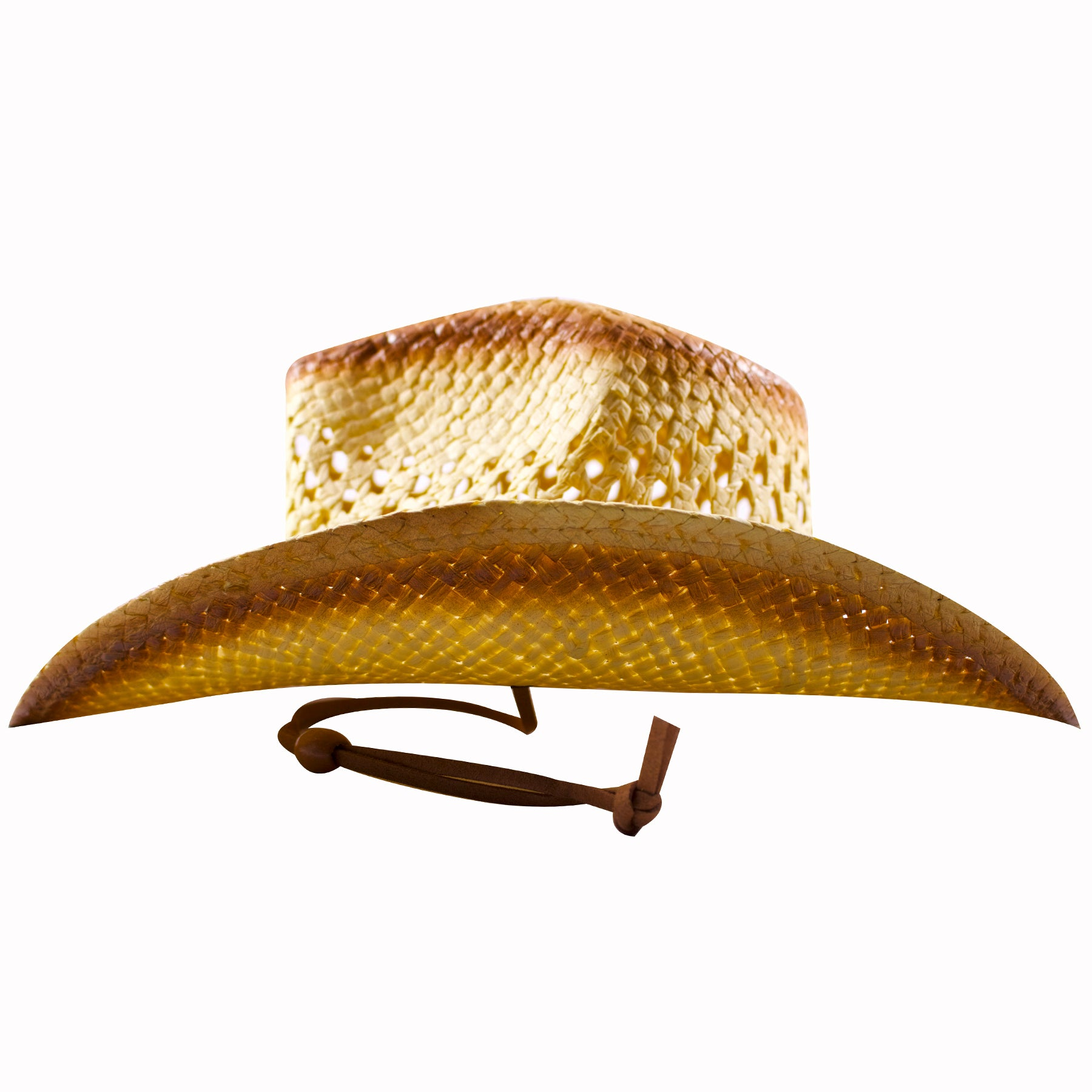 fe8f6d74ce9 ... the shape of the tan and khaki butterfly straw cowboy hat is  traditional cowboy  the strap on the butterfly emblem ...