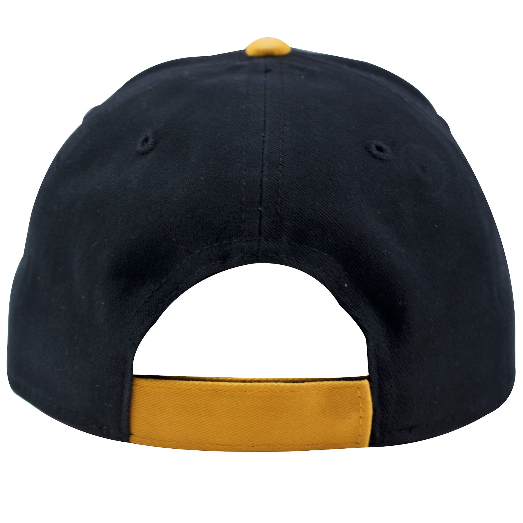 155dc72bc2b0a ... the back of the bent brim pittsburgh pirates retro youth dad hat is a  yellow velcro