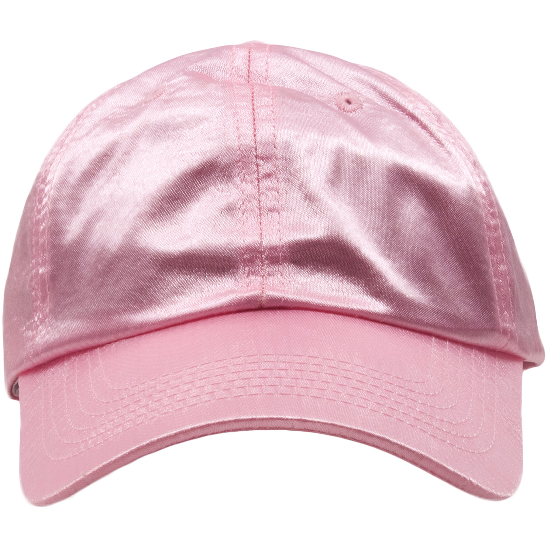 b79f5e0f83c The blank pink satin baseball cap is solid pink and made out of 100% satin