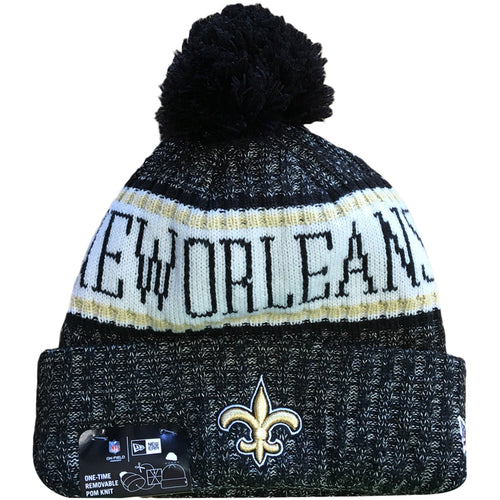 75bfc722c5023 Embroidered on the front of the 2018 New Orleans Saints On Field Cold  Weather sideline beanie