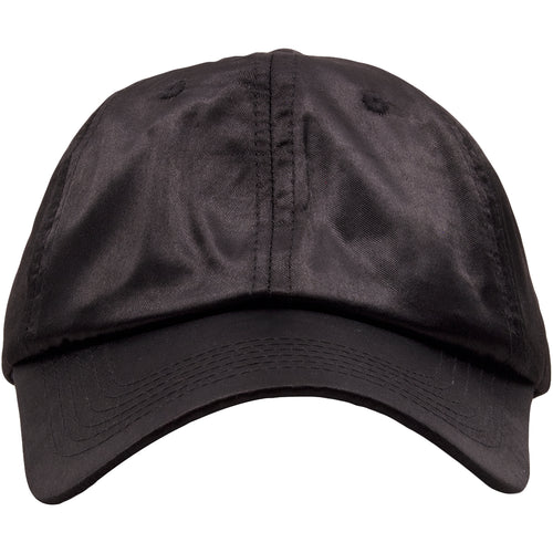 The black satin blank adjustable ball cap is solid black and made out of  100%. Foot Clan Black Satin Blank Adjustable Dad Hat e283e4fd9687