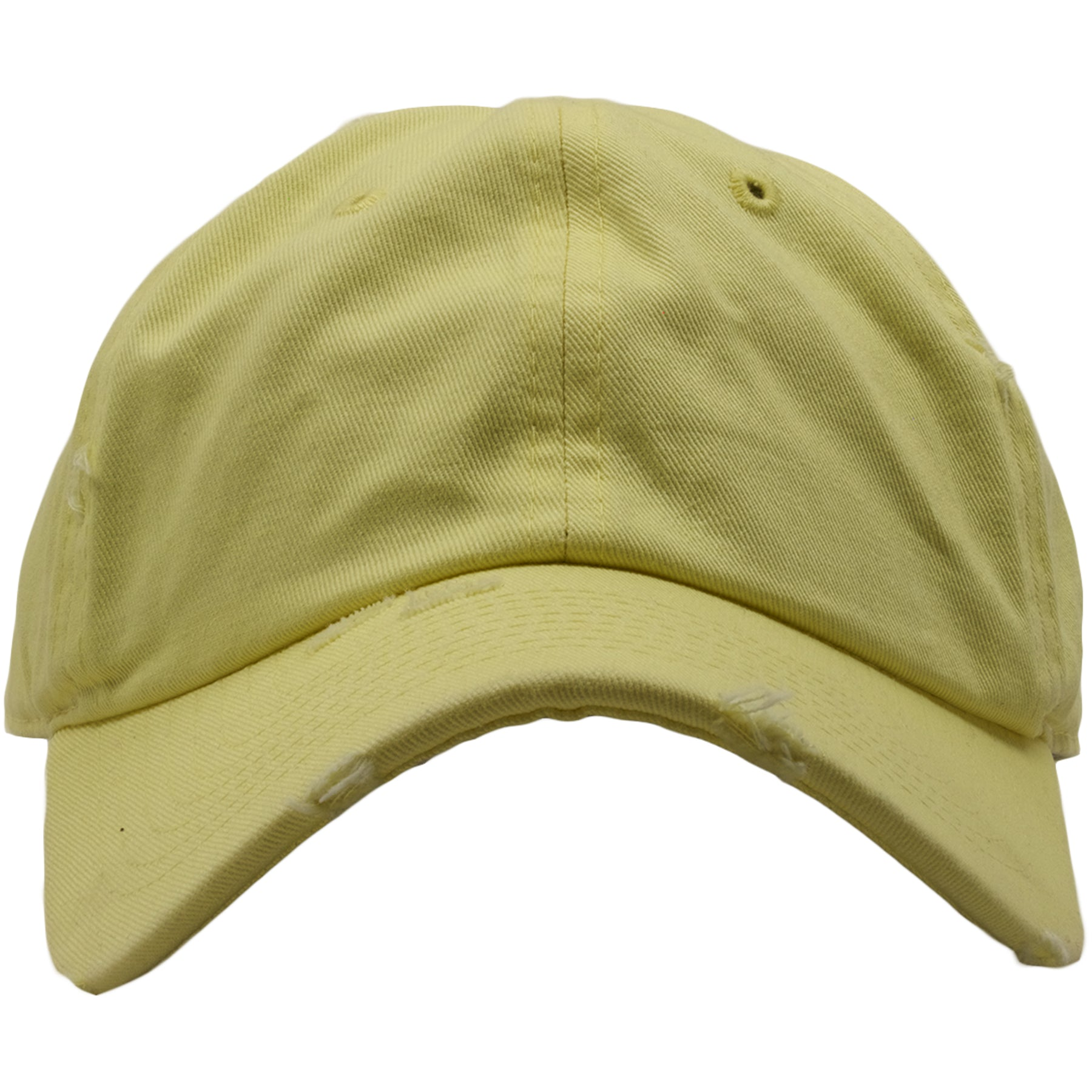The blank distresed frozen yellow dad hat is frozen yellow like the frozen  yellow yeezys and 89129fcc86c