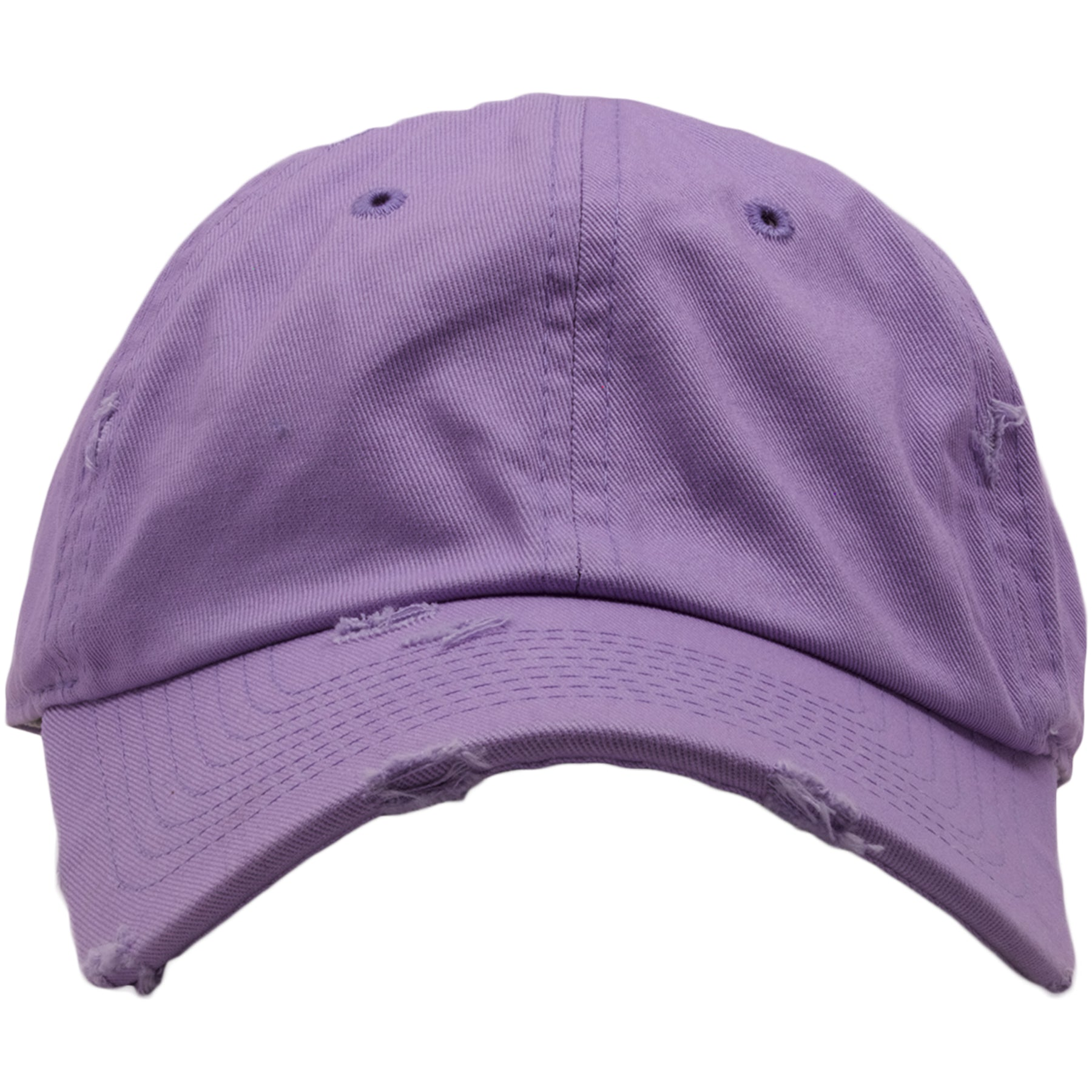 b331414df5bc17 The light purple blank distressed dad hat is solid light blue and made out  of 100