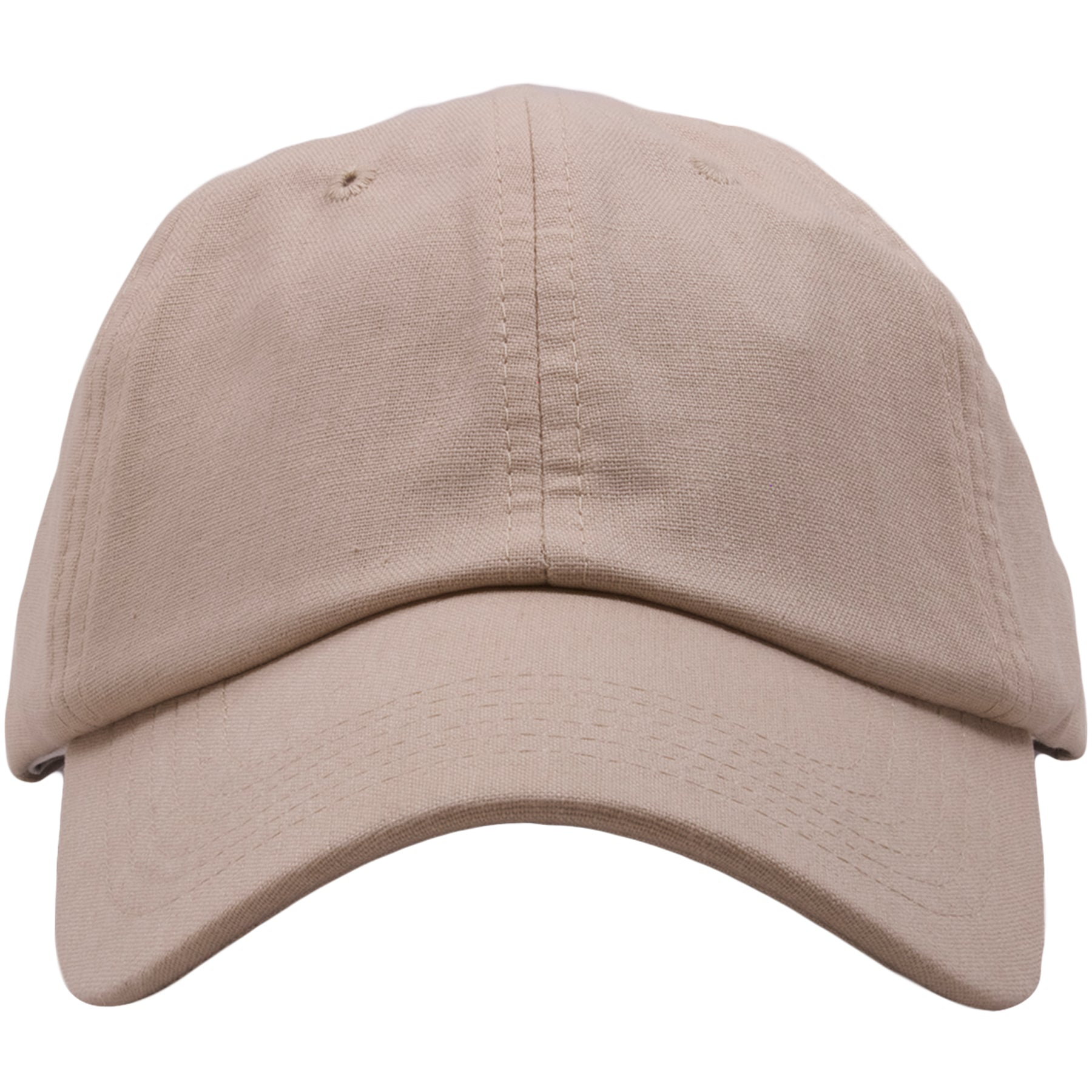 d3fa4274e33 The khaki linen blank adjustable baseball cap is made out of 100% linen and  has