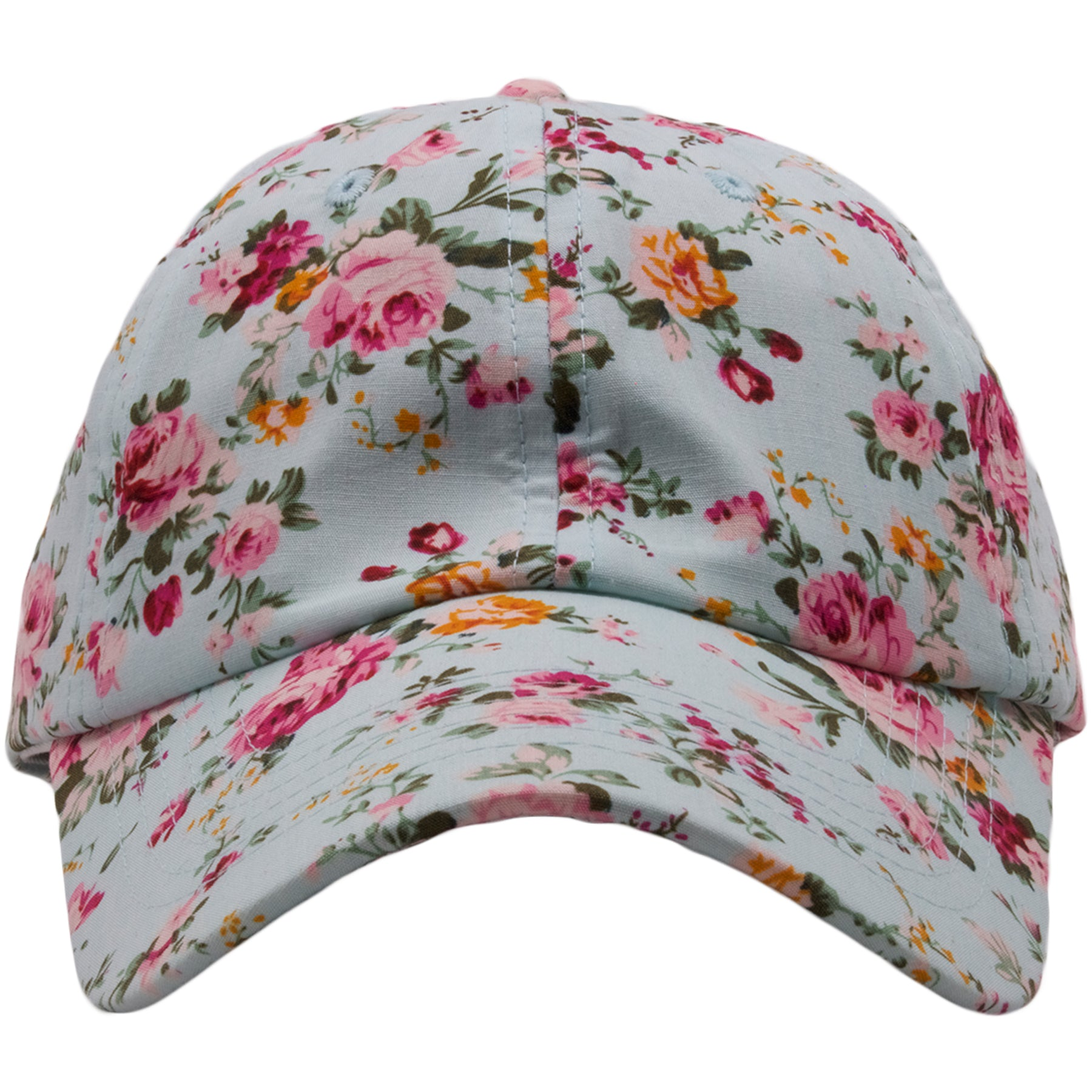 1a69b77ef66 The Foot Clan Light Blue Floral Blank Adjustable Ball Cap features a light  blue floral pattern
