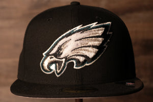 Eagles Fitted Cap | Philadelphia Eagles Swarovski Black Fitted Hat