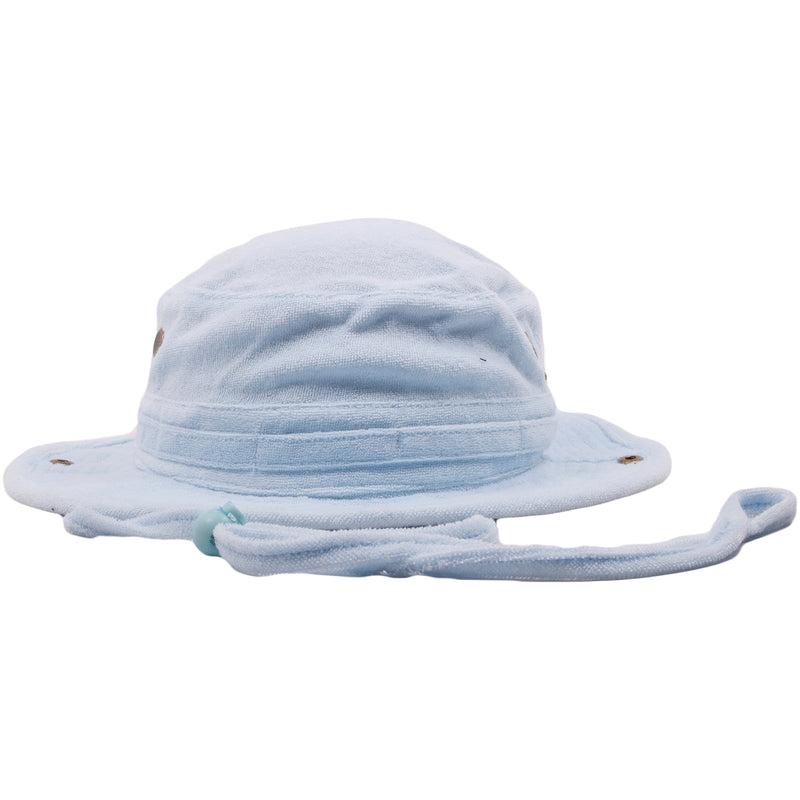 24abb4576897d The Foot Clan Light Blue Terry Cloth blank bucket hat is solid light blue  and entirely