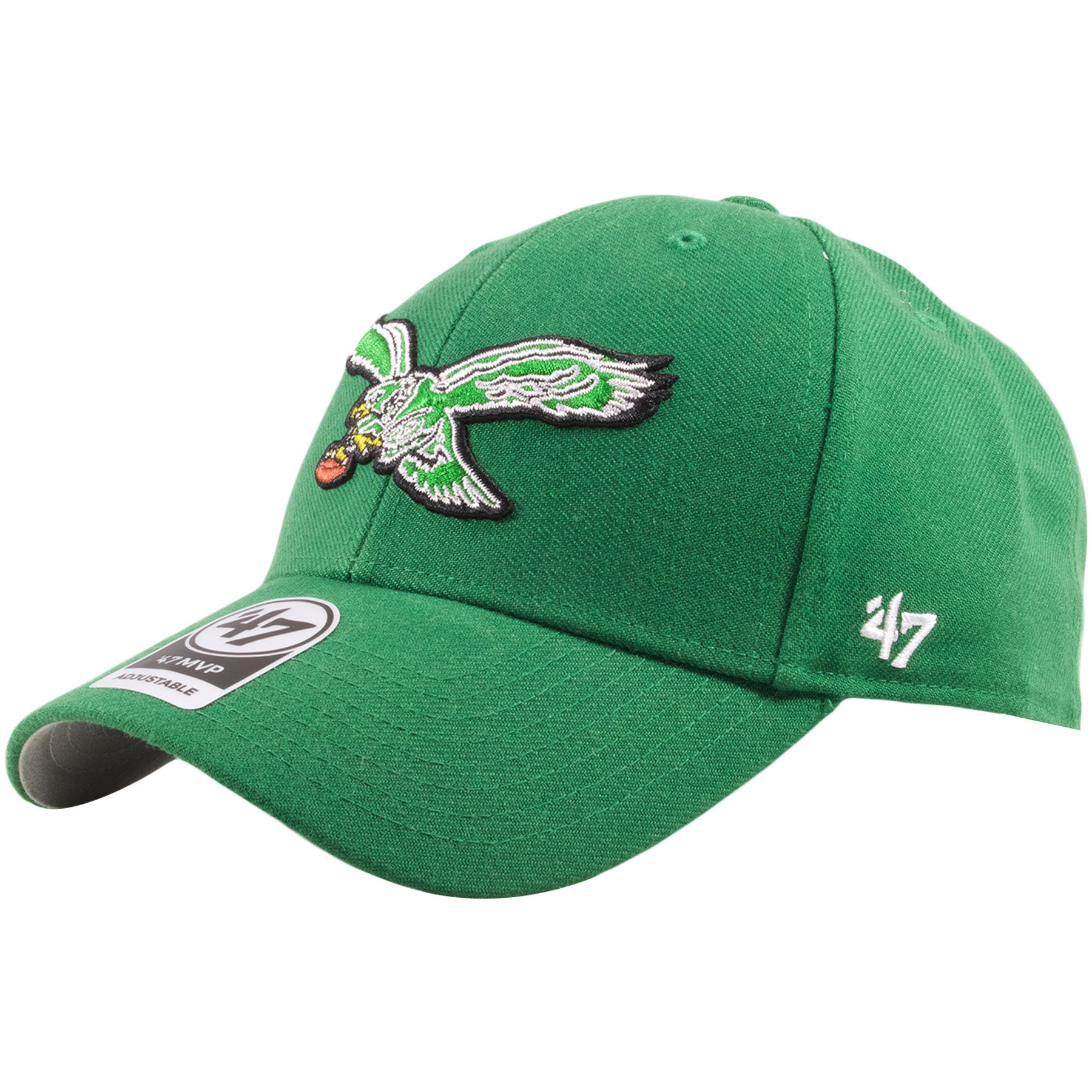 afc5770c83da8 ... kelly green throwback  Embroidered on the left side of the wool Philadelphia  Eagles throwback dad hat is the   ...