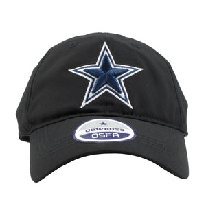 Dallas Cowboys Black Velcro Adjustable Dad Hat