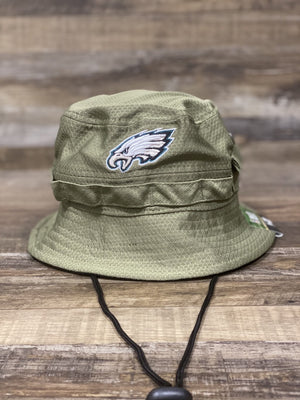front of Eagles 2019 Salute To Service Bucket Hat  | Philadelphia Eagles military Boonie hat