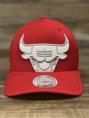 front of Jordan 3 Katrina Sneaker Hook Up Dad Hat | Red jordan 3 Chicago Bulls Retro Air Hat