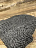 textured view of Black  Waffle Knit Beanie | fisherman's beanie for embroidery | Brand start up