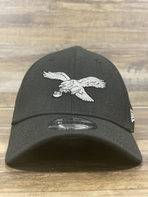 front of Retro Eagles logo flexfit hat | Vintage bird Philadelphia eagles stretch fit hat | New era 3930 flex hat