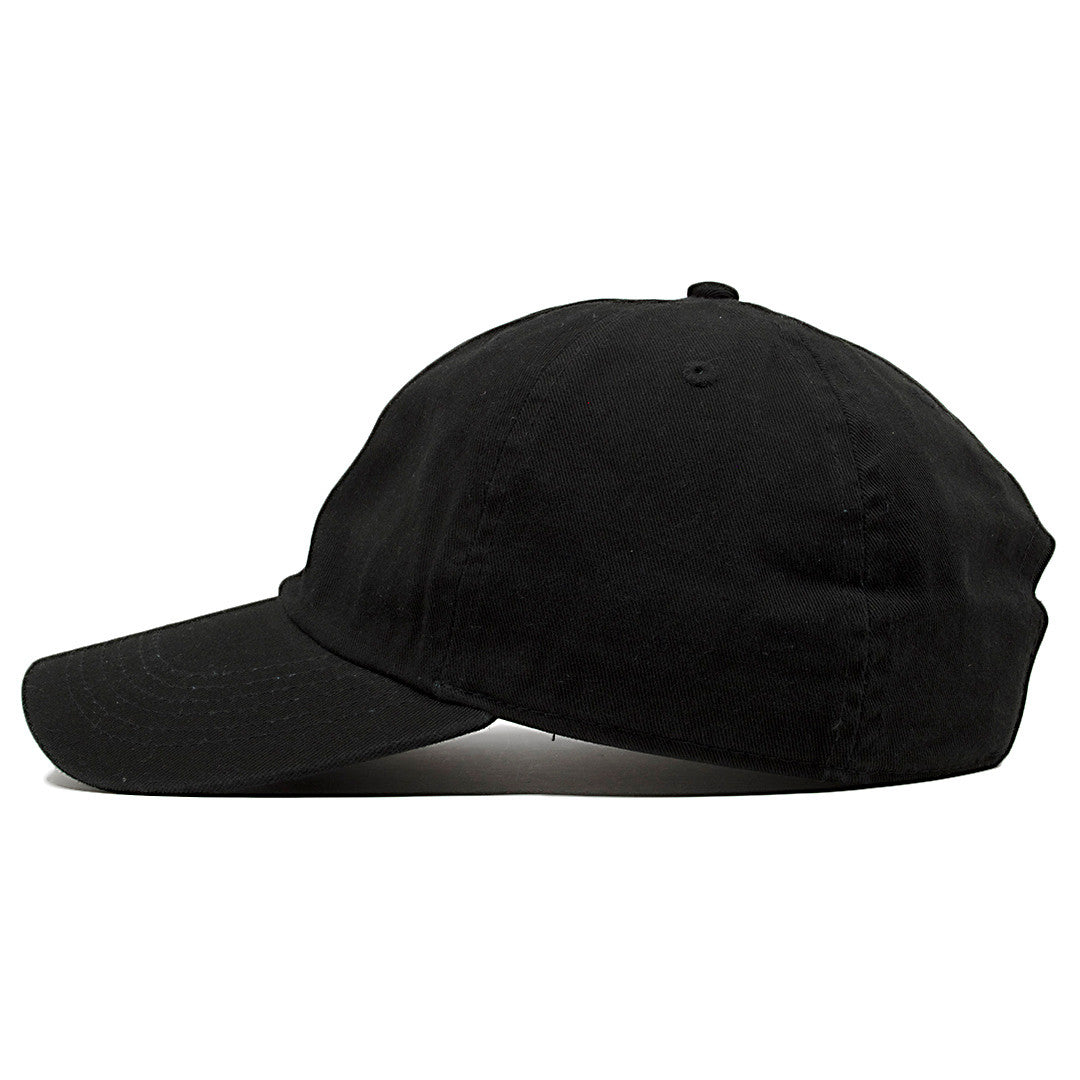 59f24f92b4a2b ... lue  the iverson step over dad hat has a soft black crown and a black  bent brim  on ...