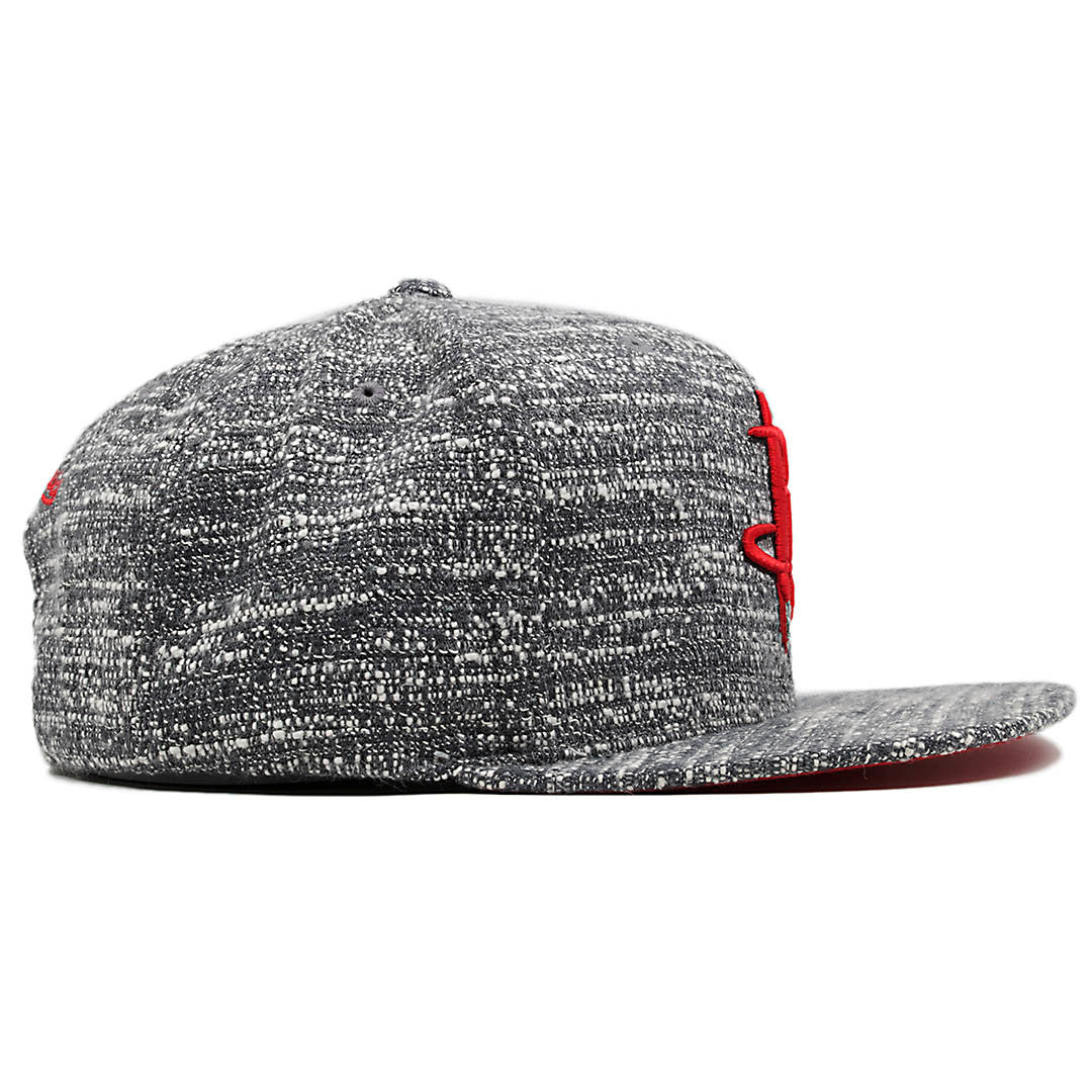 9cd7f68cb3d ... the grey noise marbled concrete snapback hat has a solid heather grey  finish ...