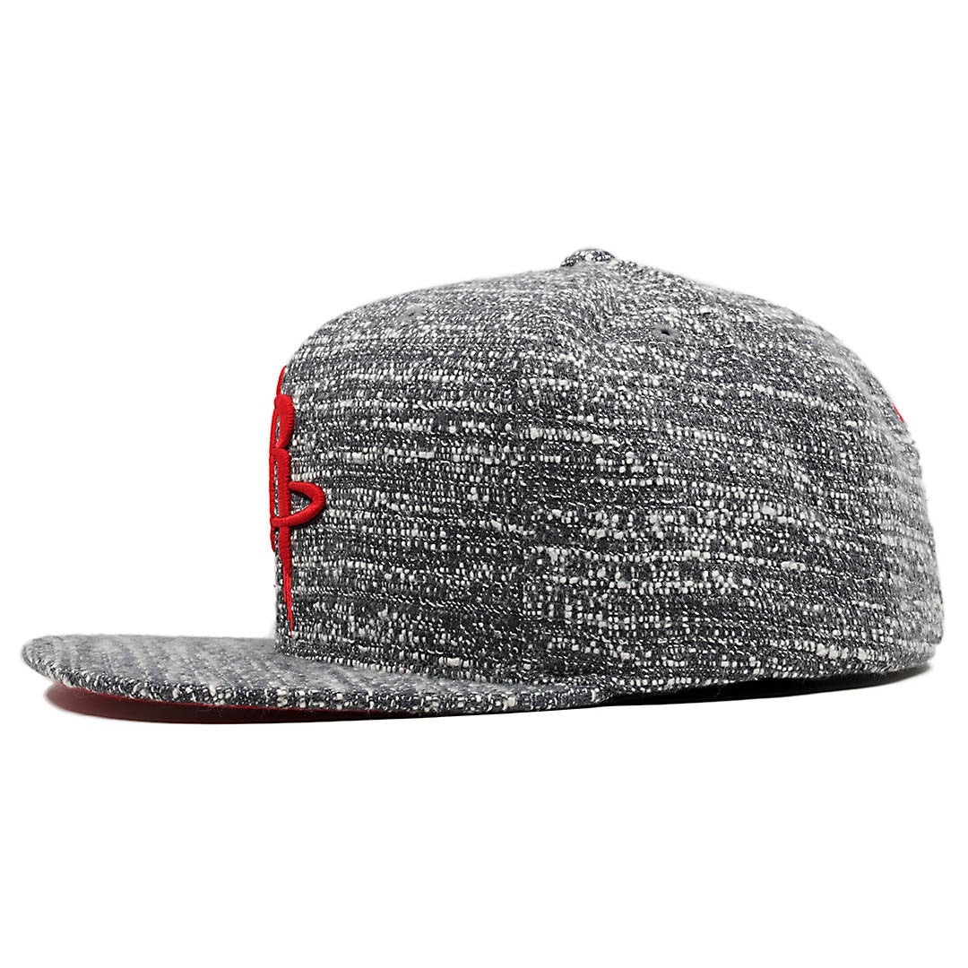 5501ba1594e ... the houston rockets marbled grey noise concrete snapback hat has a high  crown and a flat ...