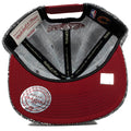 the mitchell and ness cleveland cavaliers marbled grey noise snapback hat has a maroon under brim